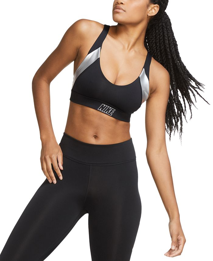 Nike - Indy Low-Impact Metallic Sports Bra