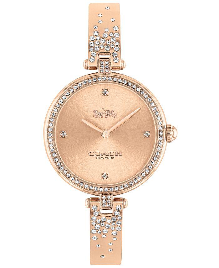 COACH - Women's Park Rose Gold-Tone Bangle Bracelet Watch 30mm