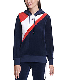 Tommy Hilfiger Sport Velour Colorblocked Hoodie