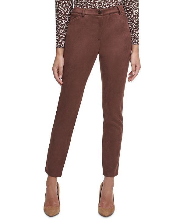 Tommy Hilfiger Faux-Suede Ankle Pants