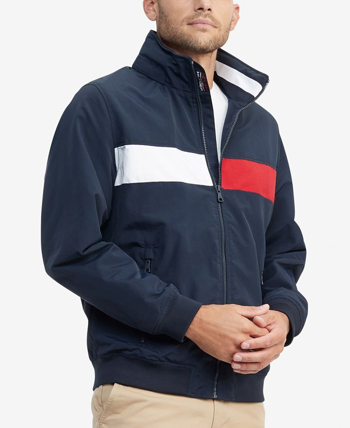 Tommy Hilfiger - Men's Creek Pieced Colorblocked Yacht Jacket with Zip-Out Hood