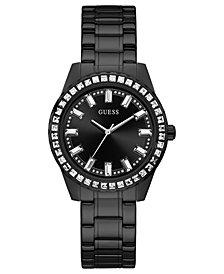 GUESS Women's Black Stainless Steel Bracelet Watch 38mm