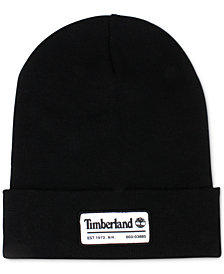 Timberland Men's Slouch Patch Logo Beanie