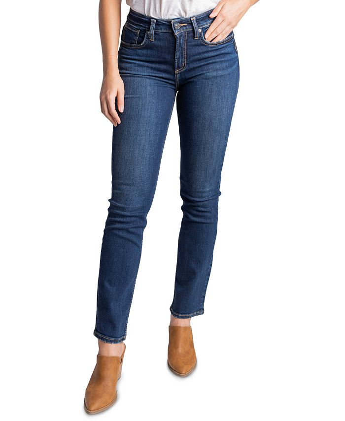 Silver Jeans Co. - Avery High-Rise Straight-Leg Jeans