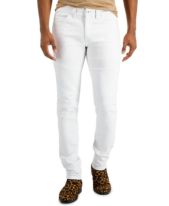 INC International Concepts INC Men's Skinny Moto 1 Jeans, Created for Macy's