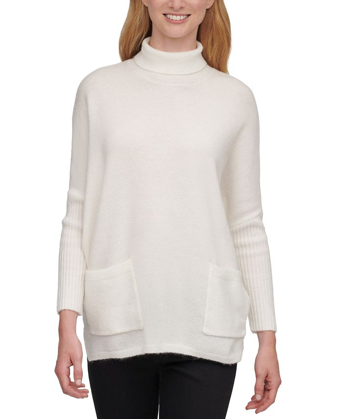 DKNY - Patch-Pocket Turtleneck Sweater