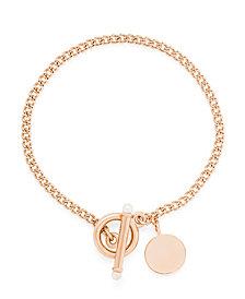 brook & york 14K Rose Gold Plated Stella Pearl Toggle Bracelet