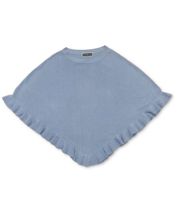Karen Scott - Luxsoft Ruffled-Hem Poncho Sweater