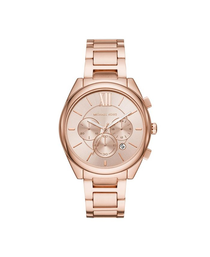 Michael Kors - Women's Janelle Rose Gold-Tone Stainless Steel Bracelet Watch 42mm