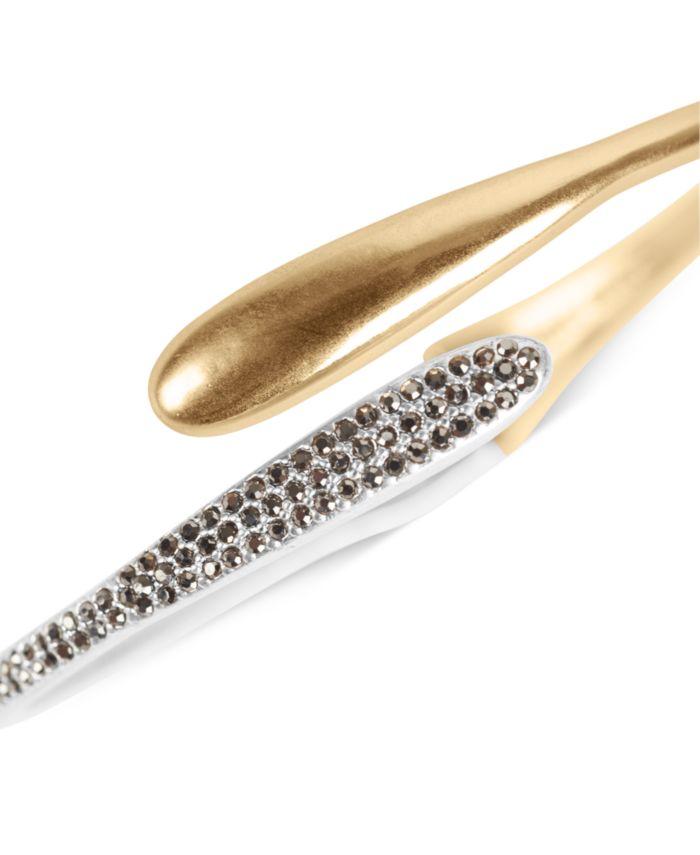 Lucky Brand Two-Tone Pavé Bypass Bangle Bracelet & Reviews - Bracelets - Jewelry & Watches - Macy's