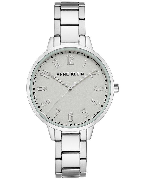 Anne Klein Women's Silver-Tone Bracelet Watch 38mm