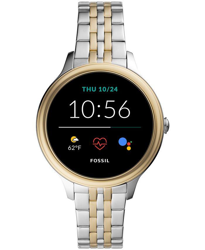 Fossil - Women's Gen 5E Two-Tone Stainless Steel Touchscreen Smart Watch 42mm