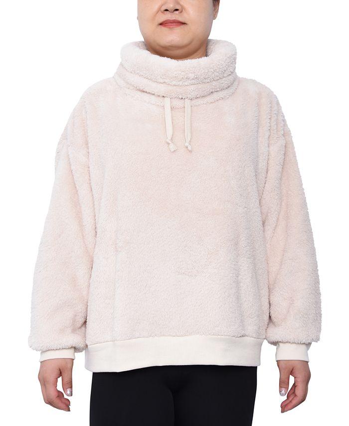 Derek Heart - Trendy Plus Size Plush Pullover Top