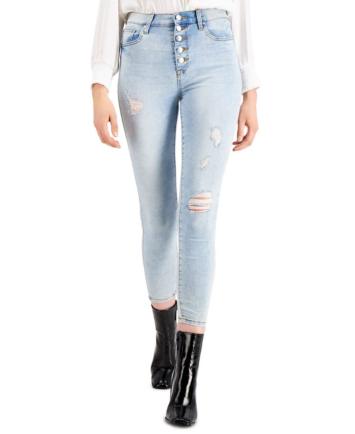 Celebrity Pink - Juniors' Cotton Distressed Skinny Jeans