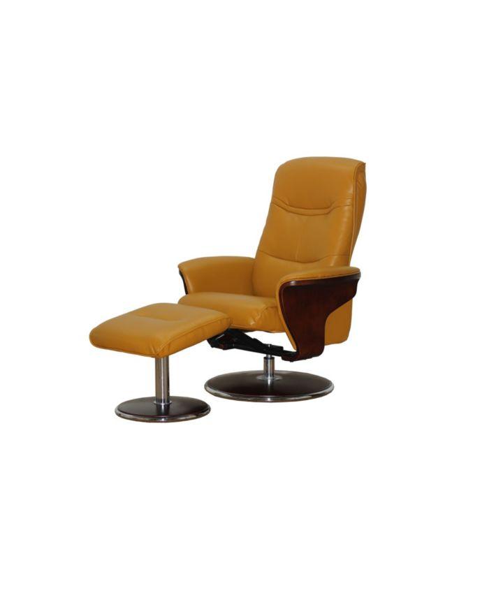 Artiva USA Milano Modern Bentwood Swivel Recliner with Ottoman Set & Reviews - Furniture - Macy's