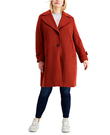 Sam Edelman Plus Size Single-Breasted Peacoat, Created for Macy's