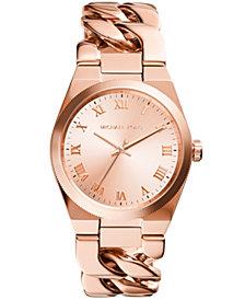 Michael Kors Women's Channing Rose Gold-Tone Stainless Steel Bracelet Watch 38mm