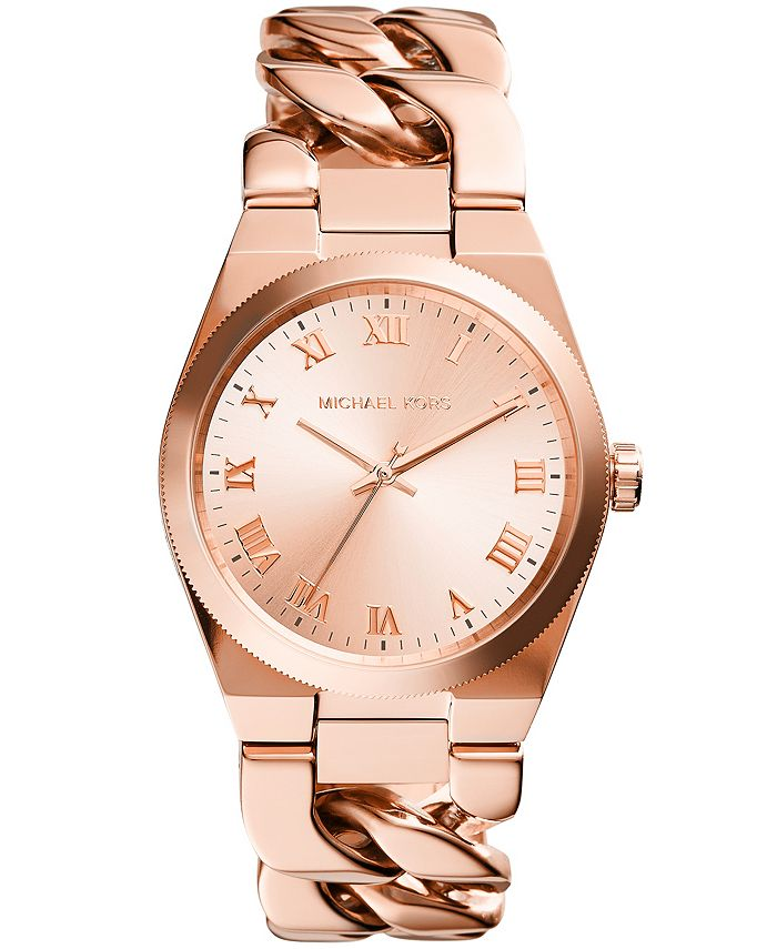 Michael Kors - Women's Channing Rose Gold-Tone Stainless Steel Bracelet Watch 38mm MK4564