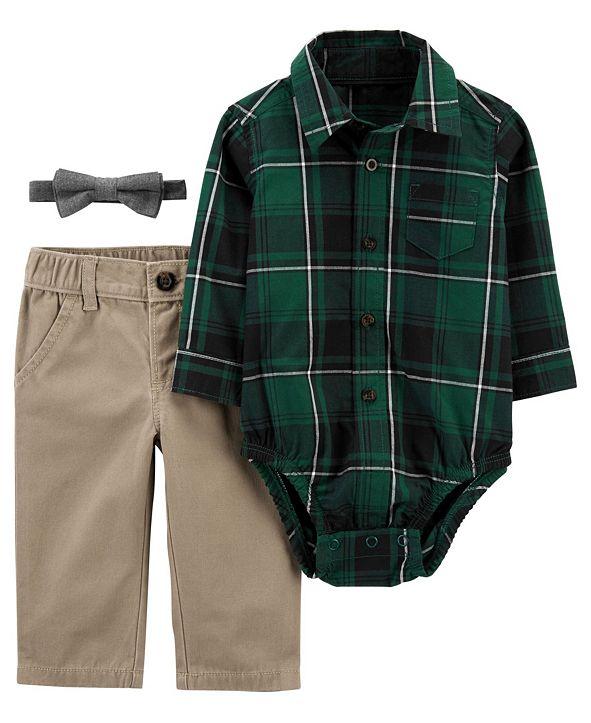 Carter's Baby Boy 3-Piece Plaid Dress Me Up Set