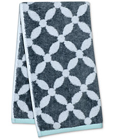 "Martha Stewart Collection Dot Lattice 16"" x 28"" Hand Towel, Created for Macy's"