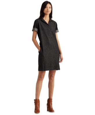 Denim Cotton Shift Dress
