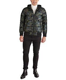 GUESS Men's Camo Shine Bomber Jacket