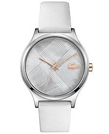 Lacoste Women's Nikita Gray Leather Strap Watch 38mm