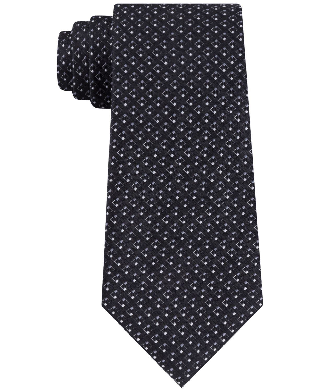 Calvin Klein Men's Squared Neat Tie  & Reviews - Ties & Pocket Squares - Men - Macy's