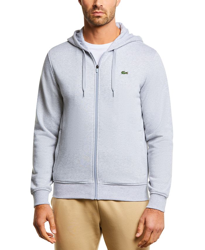 Lacoste - Men's SPORT Long Sleeve Full-Zip Solid Hoodie