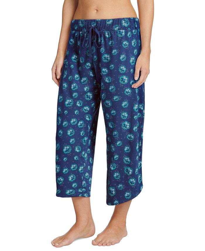 Jockey - Printed Cotton Capri Sleep Pants
