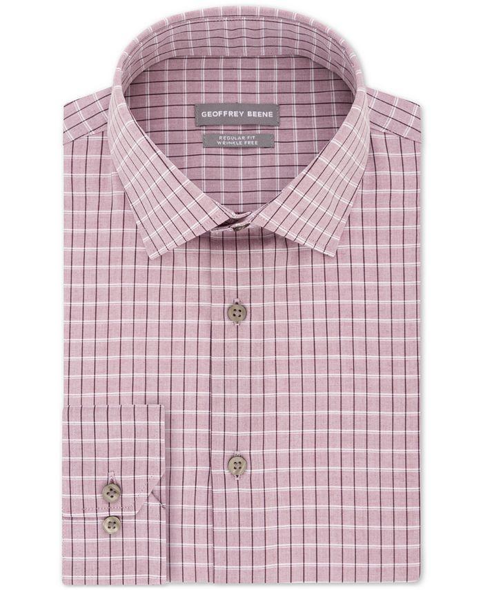 Geoffrey Beene - Men's Classic/Regular Fit Non-Iron Dress Check Dress Shirt