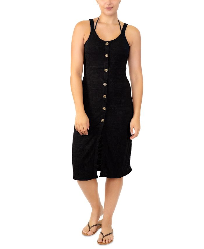 Miken - Juniors' Adjustable Button-Front Cover-Up