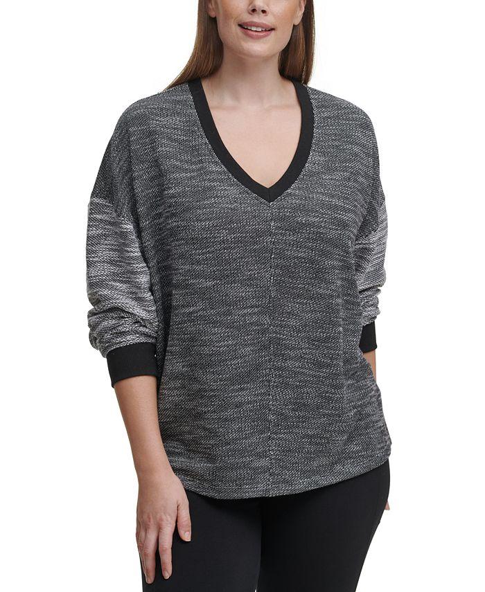 Calvin Klein - Plus Size Drop-Shoulder Top