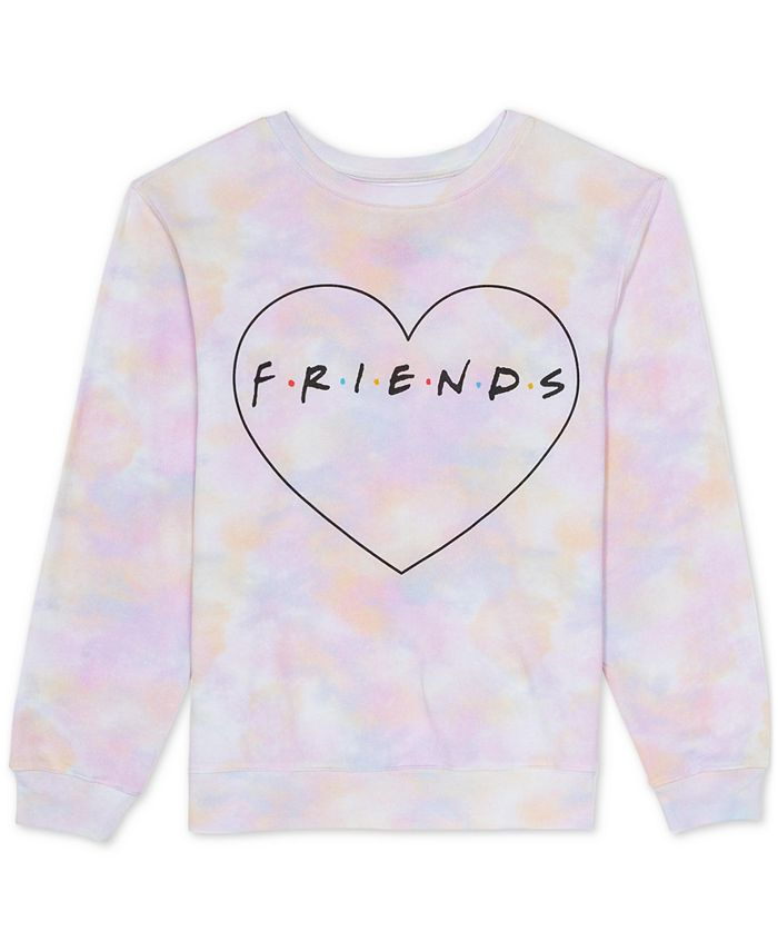 Warner Brothers - Juniors Tie-Dyed Friends Sweatshirt