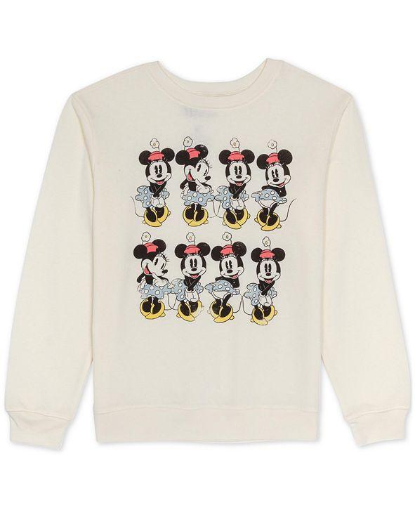 Disney Juniors Minnie Mouse Graphic Print Sweatshirt