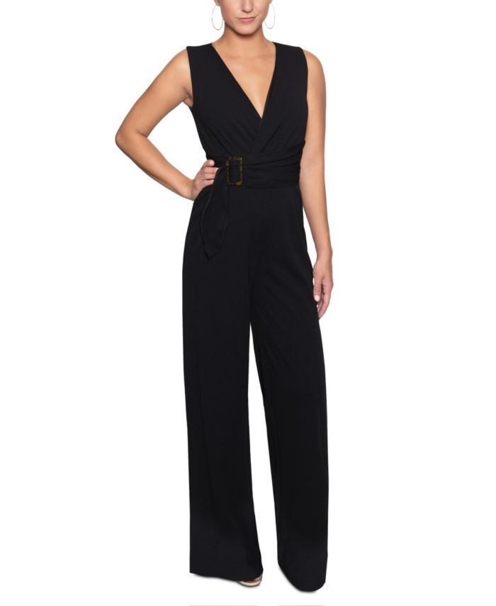 Christian Siriano New York Belted Wrap Jumpsuit & Reviews - Pants & Leggings - Women - Macy's