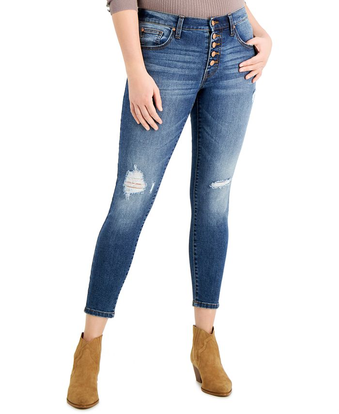 Celebrity Pink - Juniors' Mid-Rise Curvy Skinny Jeans