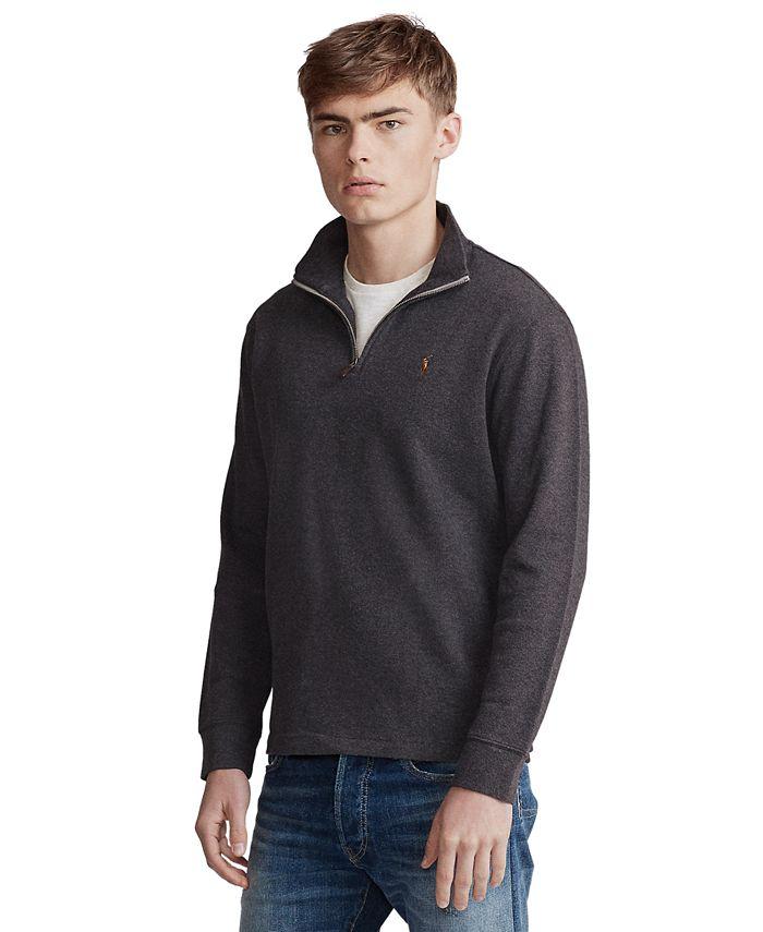 Polo Ralph Lauren - Men's Big & Tall Quarter-Zip  Cotton Pullover
