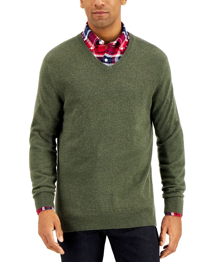 Club Room - Men's V-Neck Cashmere Sweater
