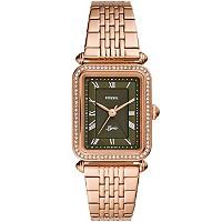 Fossil Lyric 28mm Rose Gold-Tone Women's Bracelet Watch