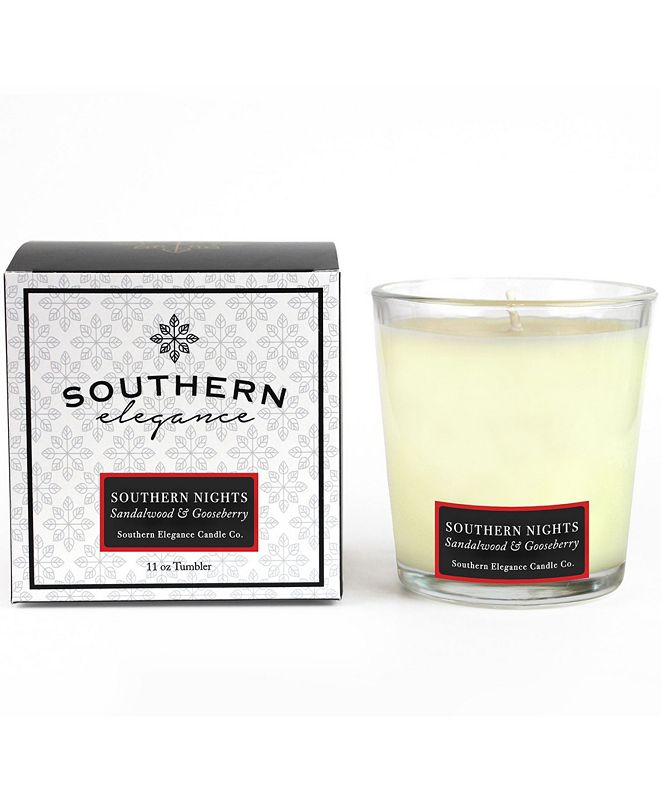 Southern Elegance Candle Company Southern Nights Currant and Sandalwood Tumbler, 11 oz