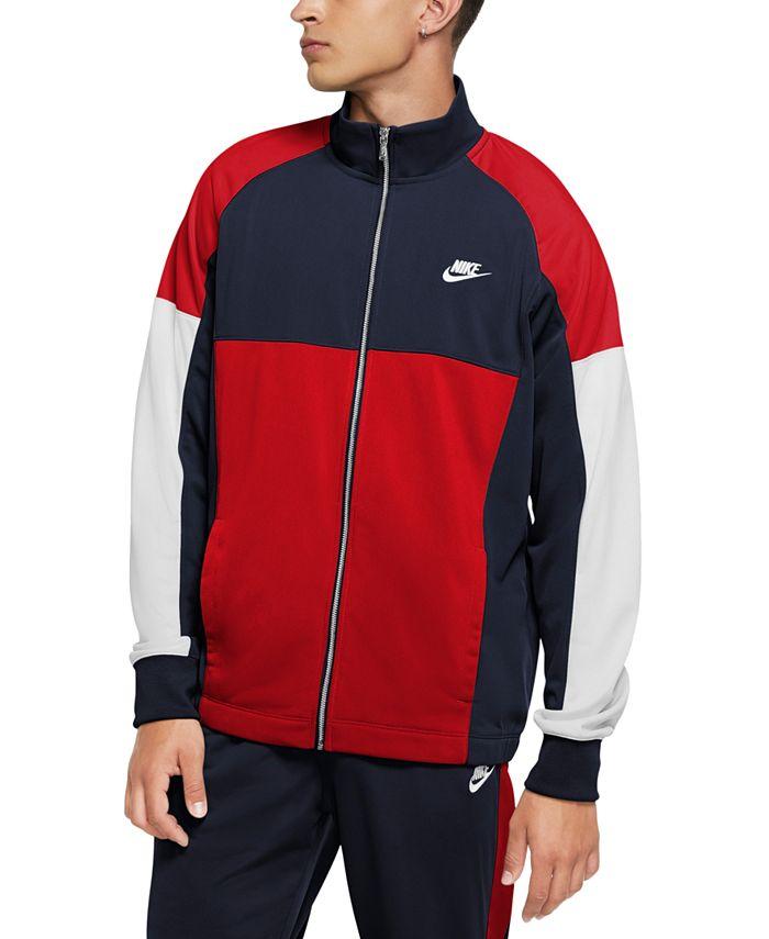Nike - Men's Standard-Fit Colorblocked Track Jacket