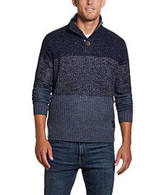 Men's Button Mock Ombre Sweater