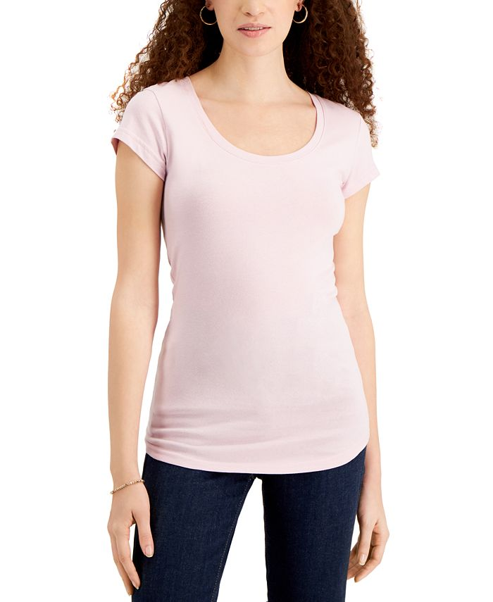 Aveto - Juniors' Scoop-Neck Cap-Sleeve T-Shirt