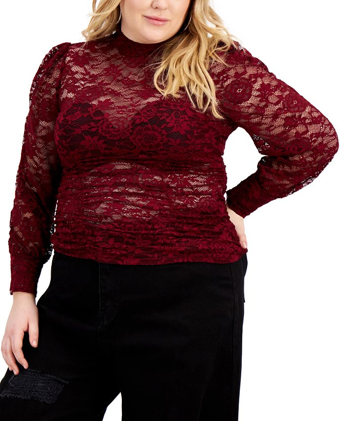 FULL CIRCLE TRENDS - Trendy Plus Size Lace Top