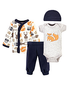 Hudson Baby Boys and Girls Preemie Layette, Set of 4