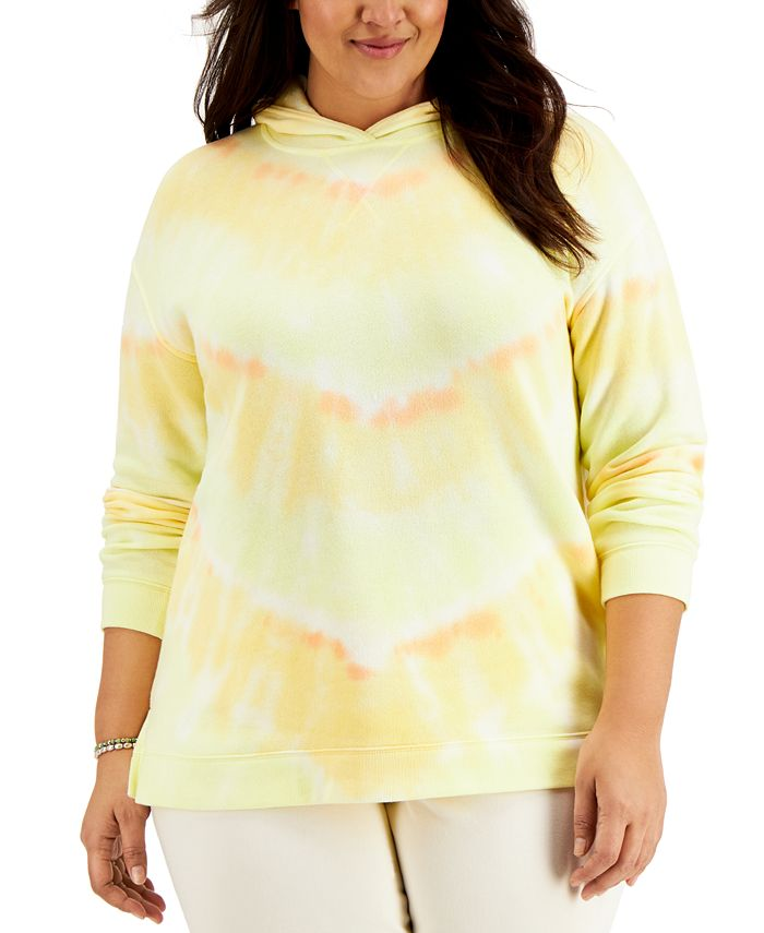 Style & Co - Plus Size Tie-Dyed Hoodie