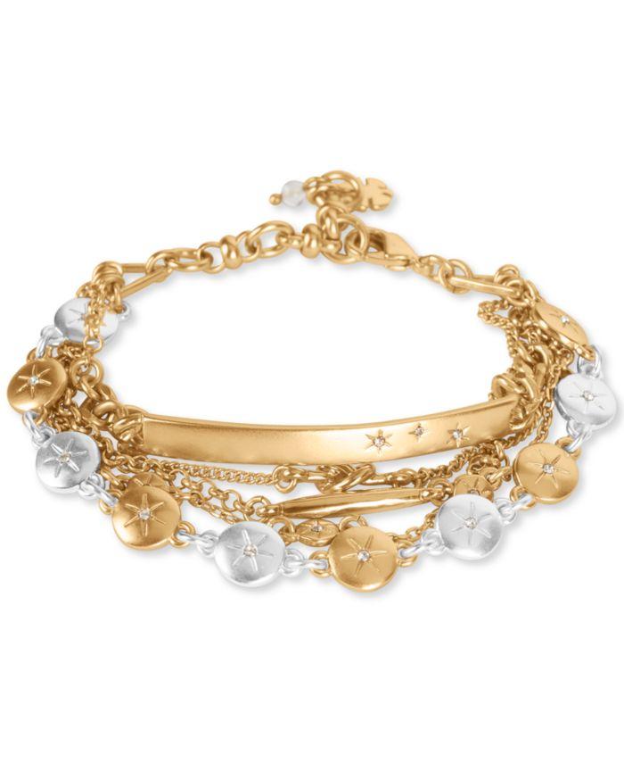 Lucky Brand Two-Tone Pavé Star Multi-Row Flex Bracelet & Reviews - Bracelets - Jewelry & Watches - Macy's