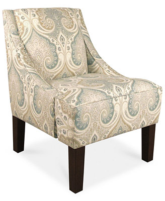 Glendale Cross Section Licorice Fabric Accent Chair, Direct Ship