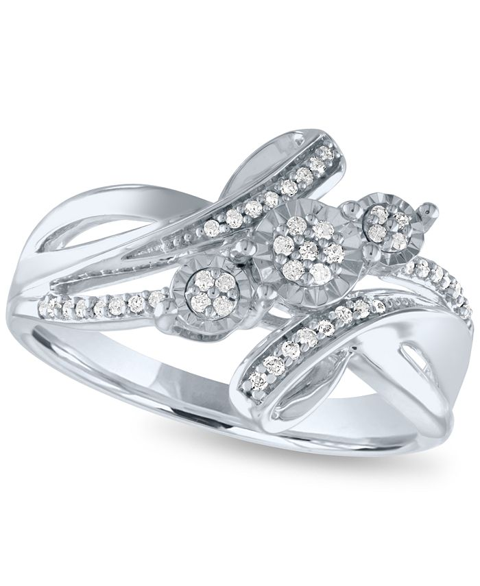 Macy's - Diamond Statement Ring (1/5 ct. t.w.) in Sterling Silver
